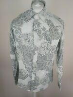 Mens Ted Baker Floral Shirt Green Size 4 Or 5 44 Chest Vgc large xl
