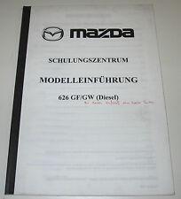 Schulungsunterlage Mazda 626 Typ GF GW Diesel Technische Info Stand August 1998!