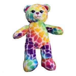 Lisa Frank Inspired Rainbow Build A Bear Plush 16 Inches
