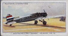 No.17 LUFT HANSA HEINKEL HE70 International Air Liners Player 1936