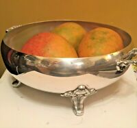 Vintage The Sheffield Silver Co 1927 Silverplated Footed Bowl with 2 Handles 12""