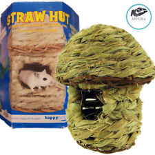 Happy Pet Nature Straw Hut Small Hamsters Gerbils Mice Gnawing Hours of Fun