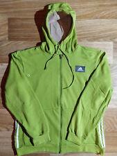 Adidas Vintage Mens Hoodie Tracksuit Top Jacket Hooded Lime Salate Green
