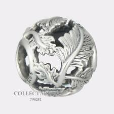 Authentic Pandora Sterling Silver Openwork Leaves Bead 798241