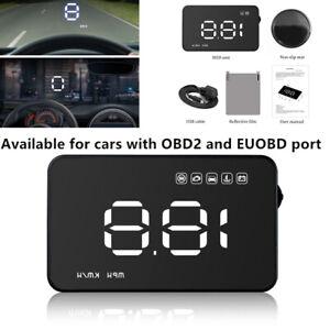"""3.5"""" OBD2 II Car GPS HUD Head Up Display Overspeed Speedometers voltage Device"""