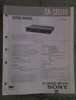 Sony ta sr310 Service Manual schematic power amplifier amp Original repair book