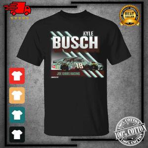 Men's #18 Kyle Busch Team Collection Chocolates Graphic Black T-Shirt