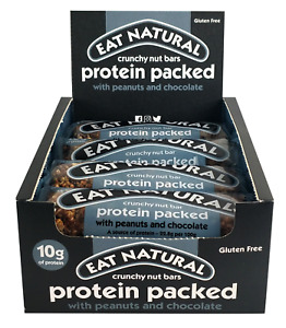 Eat Natural Protein Packed Peanut and Chocolate 12 x 45g  Gluten - Free !!!