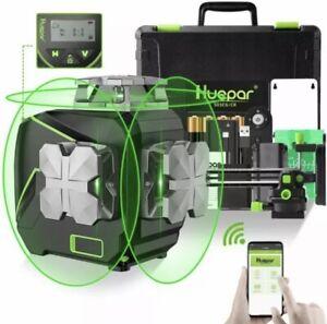 Huepar S03CG Laser Level 3D 360, Bluetooth ,Remote control ,LCD
