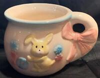 Vintage Planter Mug Bunny Kitsch Japan