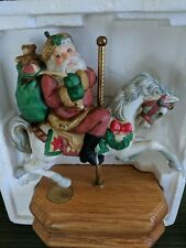 Vintage 1986 Willitts Designs Santa on Carousel Musical Limited Ed. w/ Box Works
