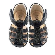 NEW Boys Girls Kids Leather Sandals Slip on Shoes sz 3M-5YR Pink-White-Black-Nav