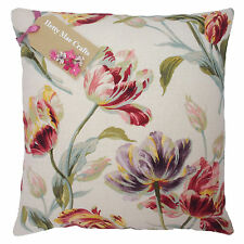 Vintage/shabby Chic Laura Ashley GOSFORD Cranberry Fabric Cushion Cover 24x24 Same as Front