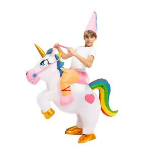 Spooktacular Creations - Ride-a-Unicorn Deluxe Inflated Costume - Child One Size