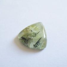 Préhnite cabochon pierre fine 18x18x5mm gemme multicolore reiki chakra plexus