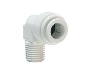 White Push Fit Check Valve Elbow 1/4 inch Pushfit to 1/8 inch Thread