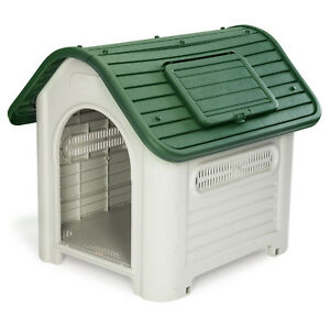 Medium Dog Kennel Insulated Shelter Pet Dogs House Indoor Outdoor Plastic Cage