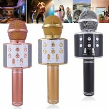 USB Sans fil Microphone Bluetooth Haut-parleur Portable Karaoké KTV Micro WS858