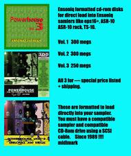 Ensoniq ASR-10, eps16, asrx  Pwr House CD-Rom Vol. 1-3