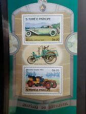 T014 Bloc feuillet HISTOIRE DE L'AUTOMOBILE CAR - NEUF MNH