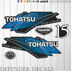 TOHATSU  15 hp FOUR Stroke outboard engine decal sticker set kit reproduction