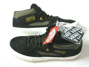 Vans Mens Half Cab Pro Skate shoes Surplus Black Green Military Size 8.5 NEW