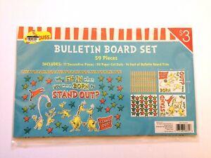 Dr. Seuss Bulletin Board Set for Teaching Teachers Room Decor 59 Pieces