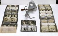 Fotografia Stereoscopica Lotto apparecchio Perfescope con 53 foto - 1902 / 1903