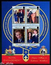 William & Kate Royal Engagement Montserrat mini sheet of four stamps mnh 2011
