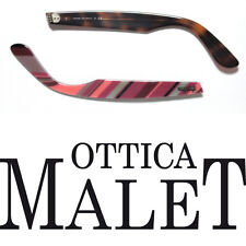 ASTE RICAMBIO RAY BAN 2143 WAYFARER TEXT ON HAVANA SIDE ARMS TESTO SU AVANA