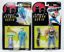 Set of 2-1995 ADVENTURES OF BATMAN & ROBIN Action Figure-JOKER & BANE (M1340)