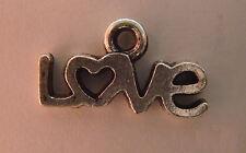 20 X TIBETAN SILVER LOVE CHARM TAG PENDANT JEWELLERY MAKING 12 x 6.5mm