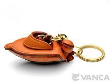 Motor Boat Handmade 3D Leather (L) Keychain/Keyring *VANCA* Made in Japan #56106