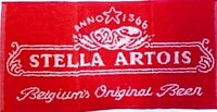 Stella Artois Cotton Bar Towel   525mm x 250mm  (pp)