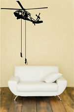 Special Forces rappelling out of Black Hawk Huge Wall Vinyl Decal,seal team 6