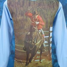 Nos vintage 70s Cowboy Horse Photo Print L/S T-Shirt Xs/Small rodeo thin 80s