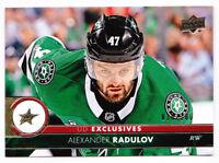 17-18 Upper Deck Alexander Radulov /100 UD Exclusives Dallas Stars 2017