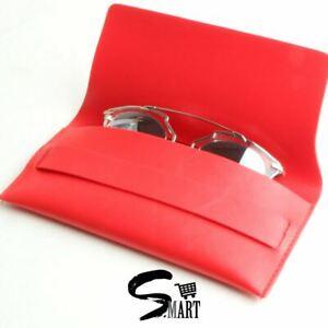 Large Sunglasses Optical Vintage Soft Leather Case Pouch Clutch 3 Colours