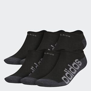 adidas Linear Superlite No-Show Socks 6 Pairs Men's