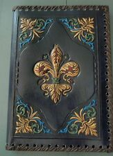 NEW Fleur De Lis Journal Bas-relief Leather/Leatherette Journal Fiorentina Italy