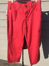 Calvin Klein Jeans - Skinny Crop - Sz 12 - Power Stretch - Red - NWT