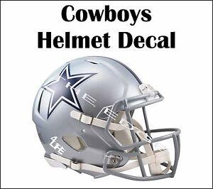 """Dallas Cowboys 4Life 6"""" Car Window Or Wall NFL Vinyl Glossy Helmet Sticker Decal"""