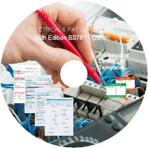 18th Edition BS7671 Electrical Certificates, & PAT Testing Forms. etc. GENUINE