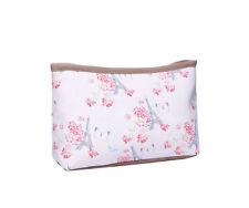Powder Pink Paris Butterfly Print Waterproof Make Up Bag / Pouch Pencil Case