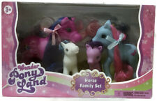 Wonder Pony Land Horse Family Set With Accessories Ages 3+ NEW