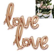 LC_ GN- Doré Rose Cœur Amour Ballon plat fiançailles fête d'anniversaire