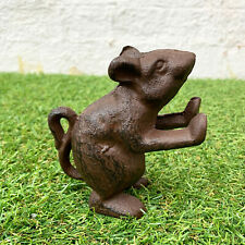 Vintage Style Cast Iron Metal Home Heavy Mouse Shelf Sitter Bookend Decoration