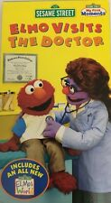 Barrio Sésamo Elmo Visita The Doctor Vhs-Tested-Very Raro Vintage-Ships N 24Hrs