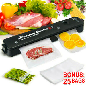 3 In1 Automatic Vacuum Food Sealer Portable Machine Packing with 25 Sealing Bags
