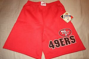 NWT VINTAGE SAN FRANCISCO 49ERS FLEECE SWEAT SHORTS SIZE SMALL MADE IN USA